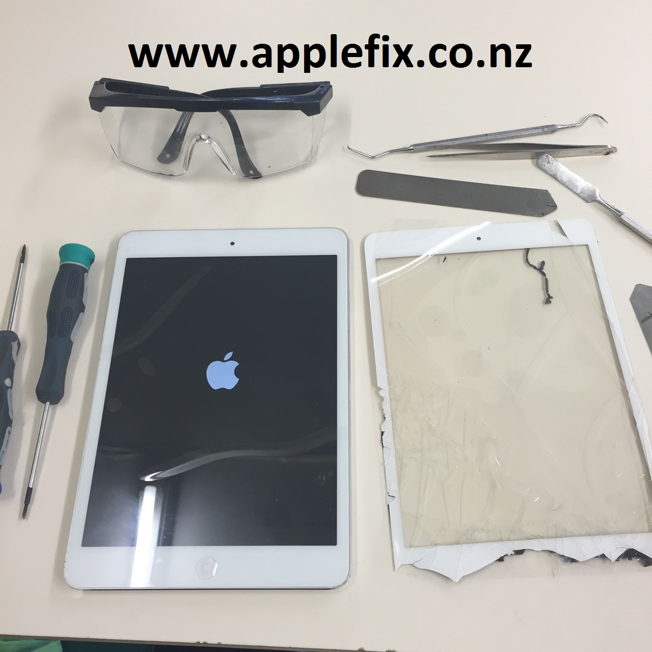 ipad broken lcd screen repair