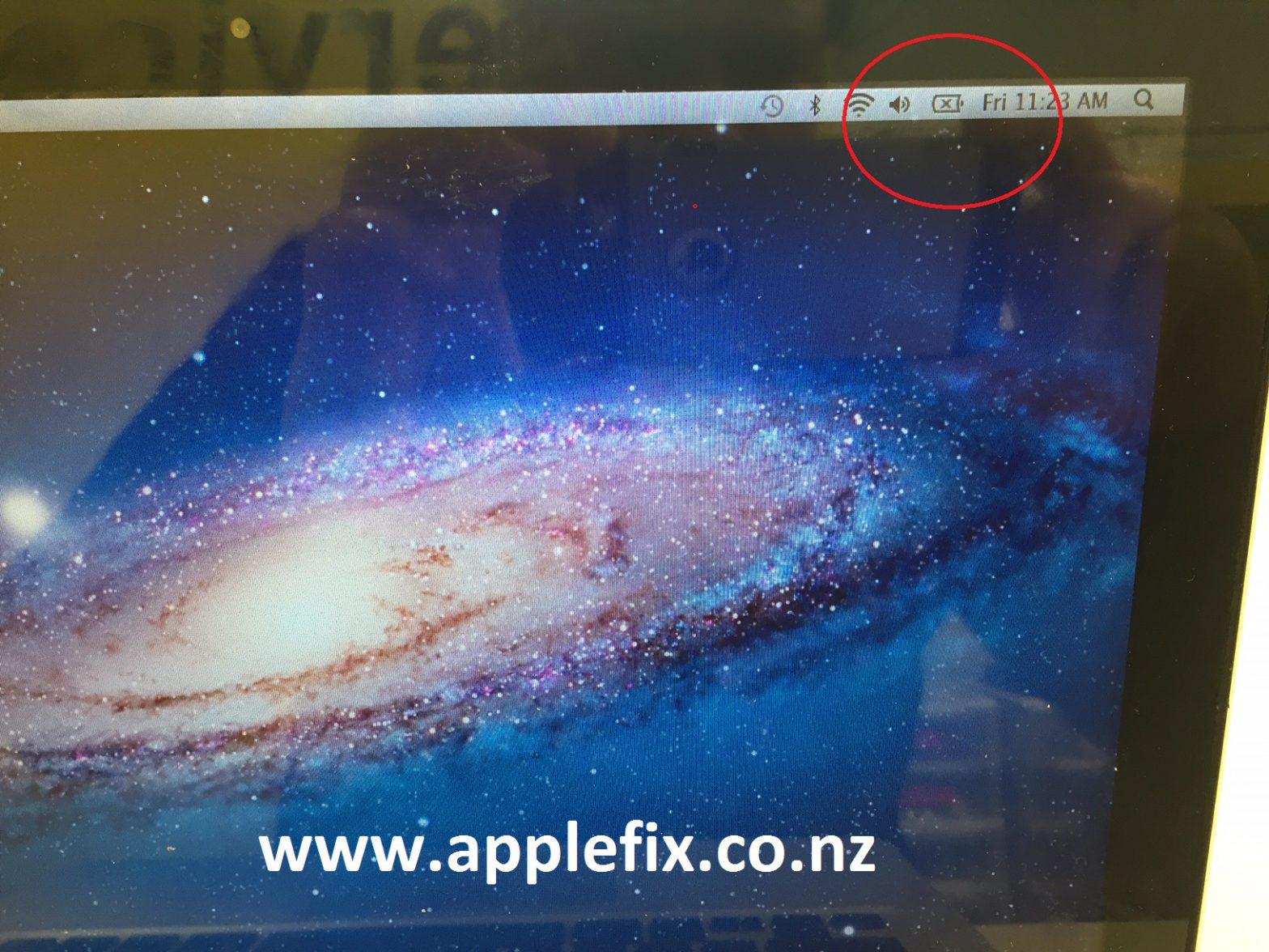 macbook pro cross on battery