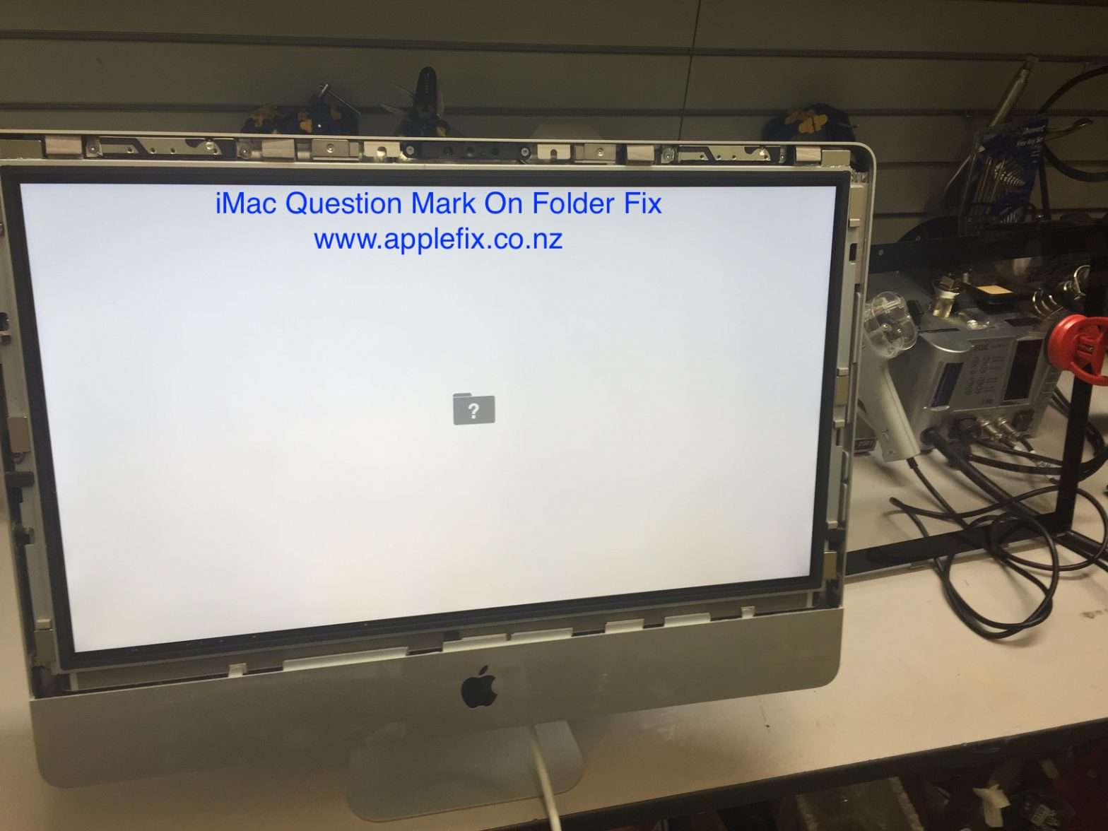 iMac question mark folder