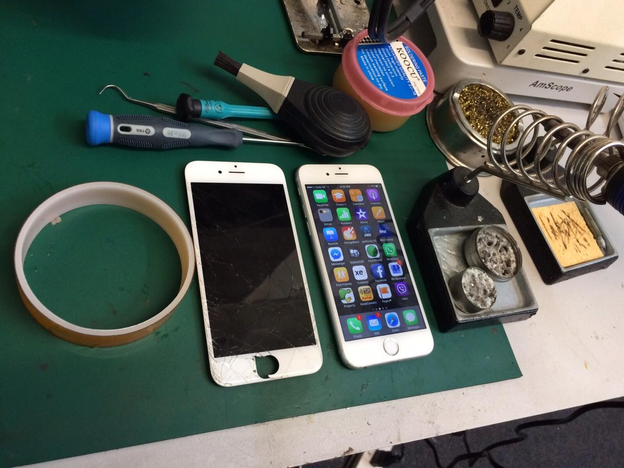 iphone broken lcd screen repair