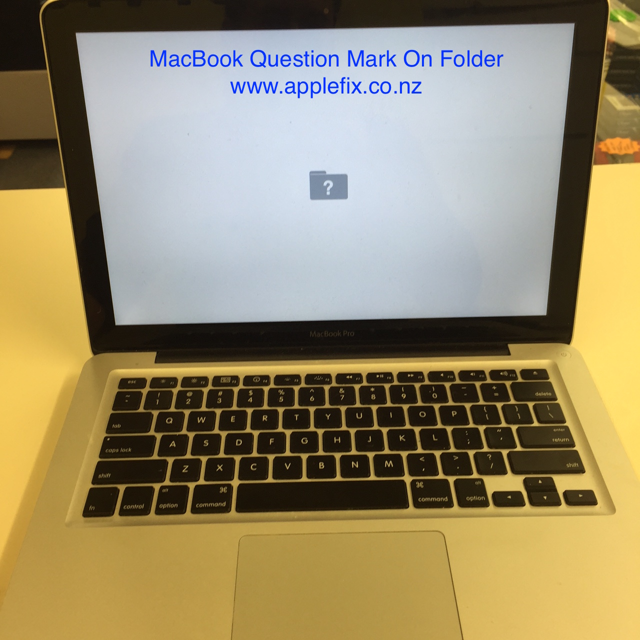 macbook question mark on folder