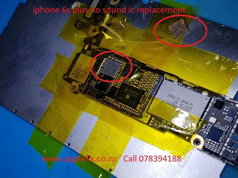 iphone 6s plus no sound audio ic replacement