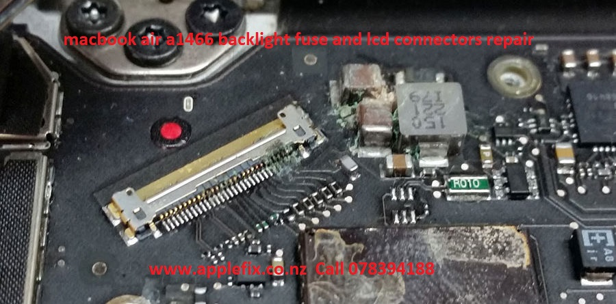 macbook air a1466 backlight fuse and lcd connectors repair