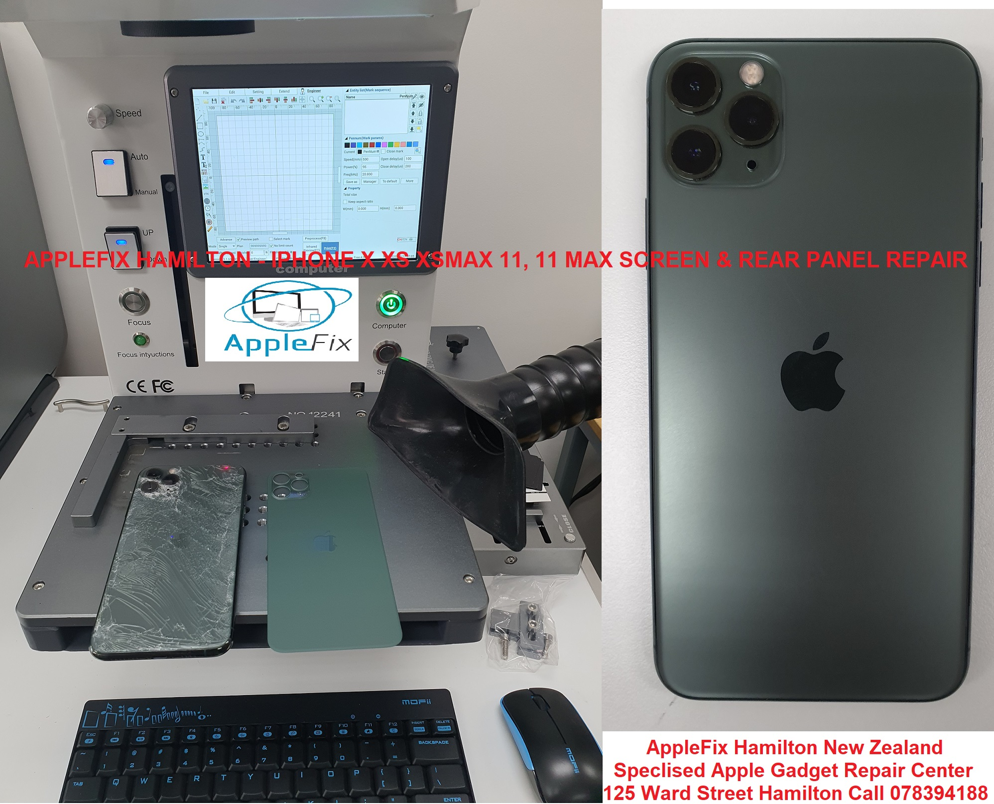 iphone 11 pro max lcd screen $ back glass repair